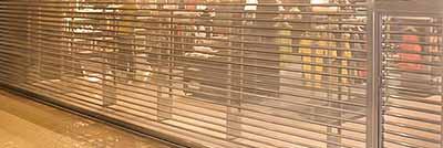porta de aço de enrolar com lâmina Transvision