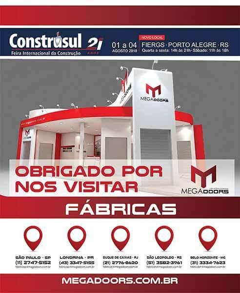 Megadoors apresenta novidades na 21° Feira Internacional da Construção