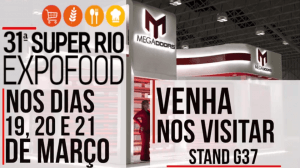MegaDoors - Venha nos visitar na 31ª SuperRio Expofood