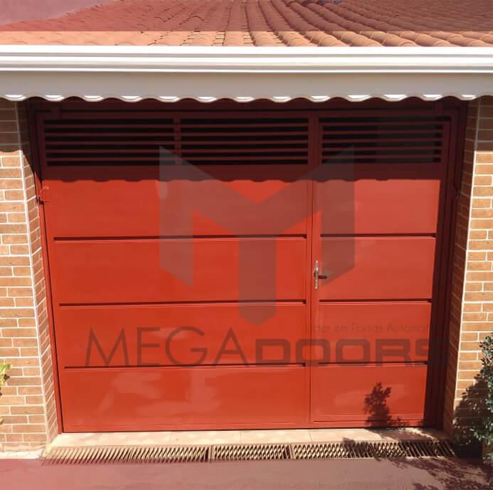Portão basculante para fachada ou garagem