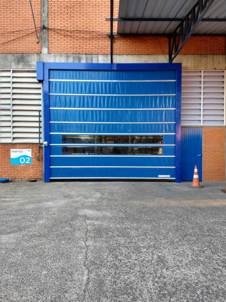 Porta industrial fast casing
